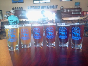 louisville beer - blue stallion sampler lexington