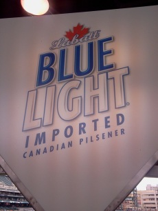 beer - labatt's blue light banner Comerica Park