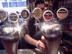 louisville beer - taps at Gordon Biersch 1