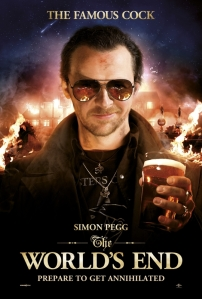 the world's end simon pegg movie poster beer