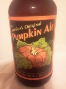 pumpkin beer - buffalo bill's