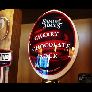 beer sam adams cheery chocolate bock