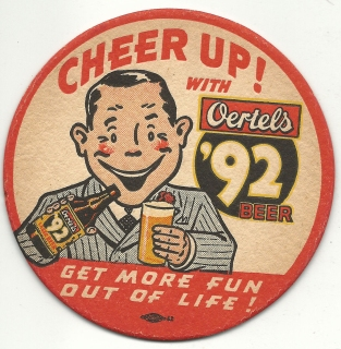 Oertels coaster 1950s Marvin Gardner