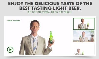 Heineken Light Website