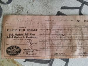 Old Louisville Brewing receipt